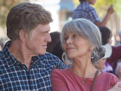 Robert Redford y Jane Fonda, en un fotograma de 'Our Souls at Night'.