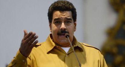 Nicolás Maduro durante un discurso este viernes
