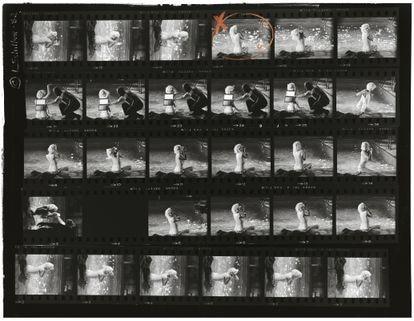 Negativos originales de la sesión de Lawrence Schiller con Marilyn Monroe.