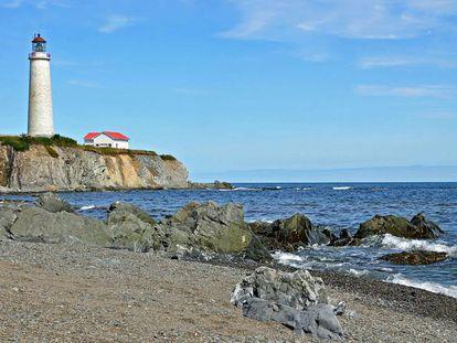 Cabo de los Rosales (Canadá), donde fueron hallados varios cuerpos del naufragio del 'Carricks'.
