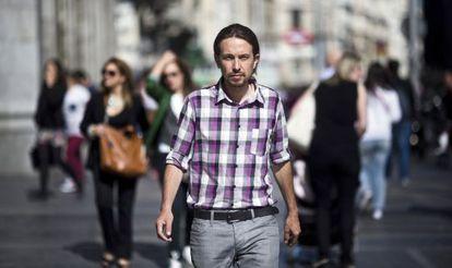 Pablo Iglesias, eurodiputado electo de Podemos, este lunes en Madrid.