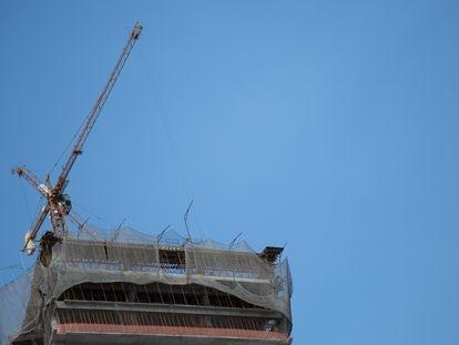 Una construcción en Brasil, en enero pasado.