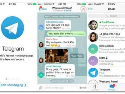 Imagen de la red social Telegram.