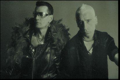 Fabio McNamara y Luiz Miguélez en una de las imágenes que Laurent D'Az tomó para la promoción del álbum 'Rockstation'.