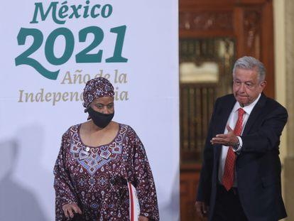 La directora Ejecutiva ONU Mujeres participa con el presidente Andrés Manuel López Obrador en la inauguración del Foro Generación Igualdad