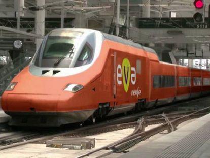 FOTO: Simulación del tren EVA de Renfe. / VÍDEO: Presentación del tren EVA.