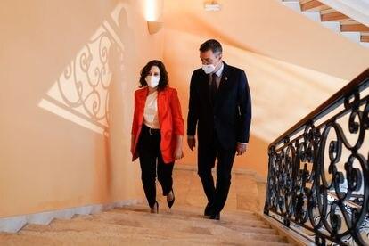 Isabel Díaz Ayuso y Pedro Sánchez, durante una reunión en Madrid el pasado septiembre.