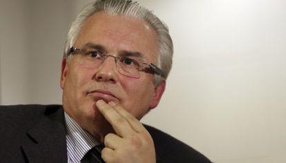 El juez, Baltasar Garzón.