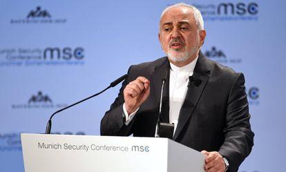 El ministro de Exteriores de Irán, Mohammad Javad Zarif, en Múnich el pasado 17 de febrero.