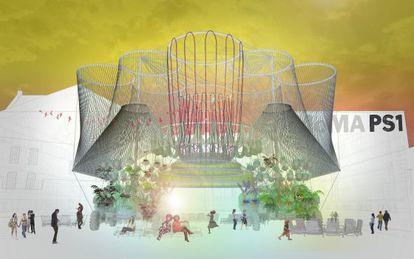 Recreación de Cosmo, que se inaugurará a finales de junio en el patio del PS1 en Queens (Nueva York).