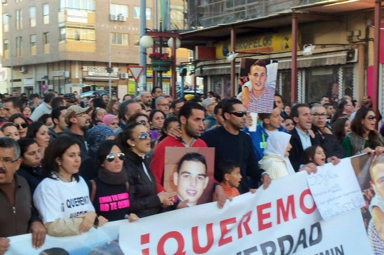Una manifestación convocada en Melilla por la muerte de los dos jóvenes melillenses.