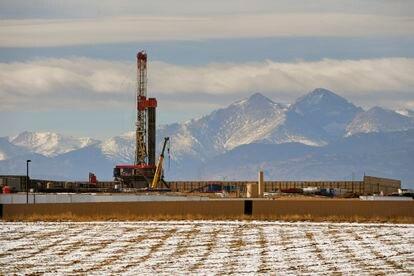 Unas instalaciones de extracción de petróleo a través de fracturación hidráulica.