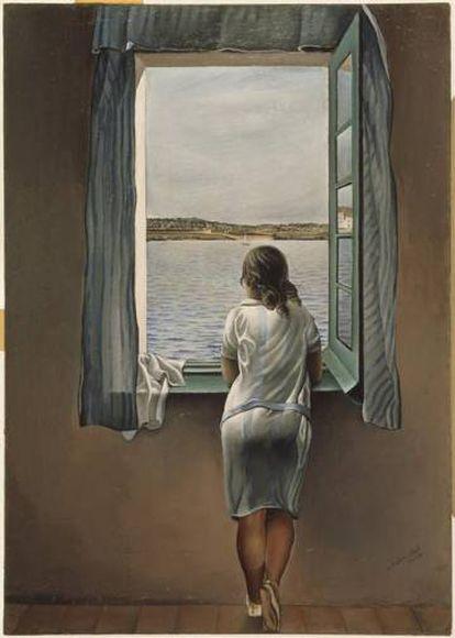 """'Figura en la ventana"""", la obra más famosa de la """"etapa Ana María"""" de Dalí que se conserva en el Reina Sofía."""