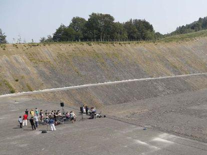 Terrenos en que iba a construirse la incineradora de Zubieta.