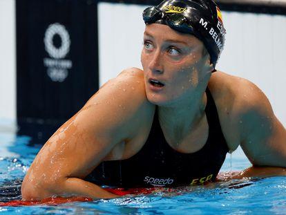 Mireia Belmonte, tras la final de los 400 estilos en los Juegos Olímpicos de Tokio.