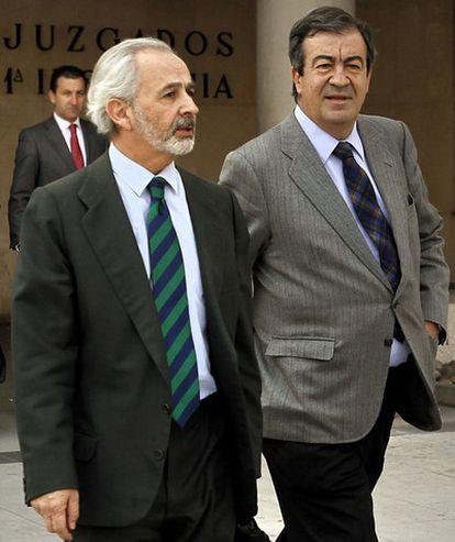 Francisco Álvarez-Cascos a la salida del juzgado.