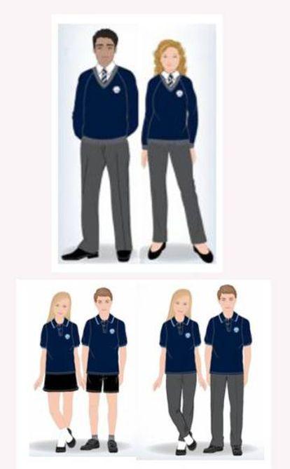 Nuevos uniformes de verano e invierno del colegio Priory.