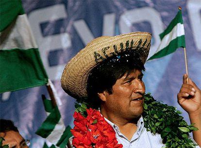 Evo Morales, durante un acto electoral celebrado el miércoles en Santa Cruz de la Sierra.
