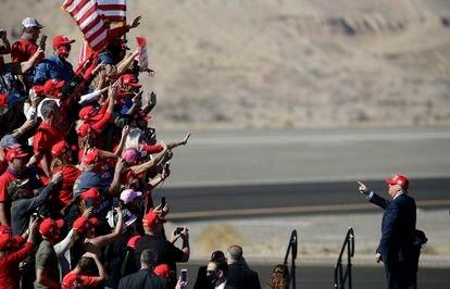 Donald Trump después de un mitin en Arizona el pasado 28 de octubre.