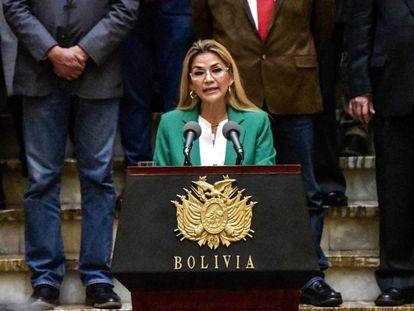 Jeanine Añez, presidenta interina de Bolivia, el pasado 22 de enero.