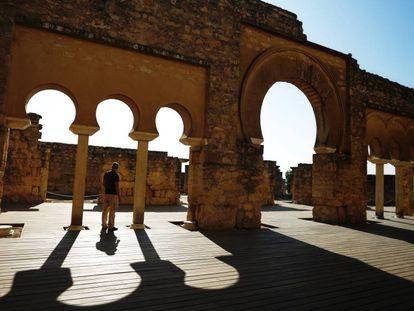 Detalle del edificio basilical superior del yacimiento de Medina Azahara.