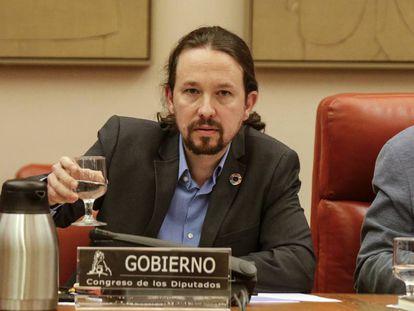 Pablo Iglesias, la pasada semana en el Congreso.