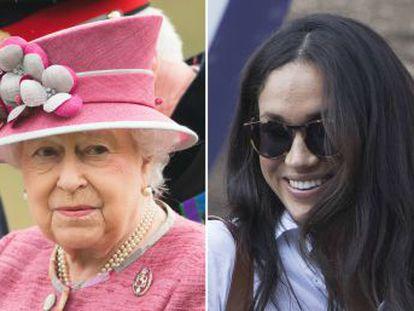 Medios británicos afirman que la actriz y Enrique de Inglaterra se reunieron con la monarca británica para hablar de sus planes de boda