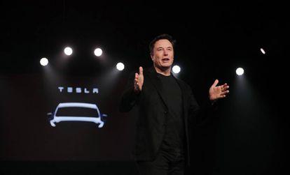 El presidente ejecutivo de Tesla, Elon Musk, durante la presentación del Model Y el pasado marzo.