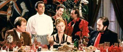 Fotograma de 'El cocinero, el ladrón, su esposa y su amante' dirigida por Peter Greenaway.