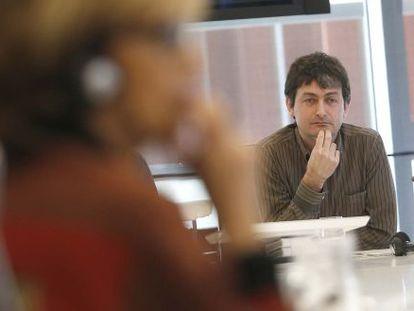 El diputado de Medio Ambiente, Iñaki Errazkin, durante su comparecencia en una comisión de las Juntas Generales.