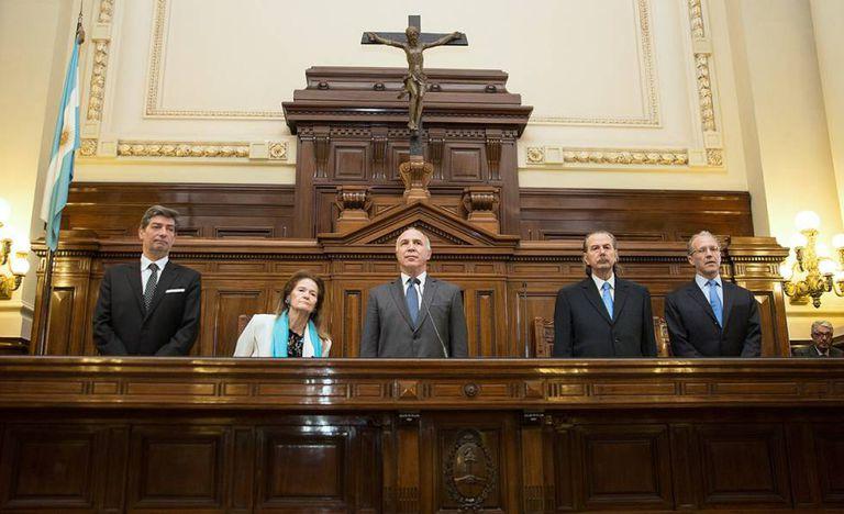 Los cinco miembros de la Corte Suprema de Argentina, en octubre de 2019.