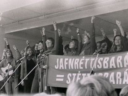 La huelga simbólica de las islandesas el 24 de octubre de 1975 fue un punto de inflexión en el país y el ejemplo de lucha por los derechos de las mujeres
