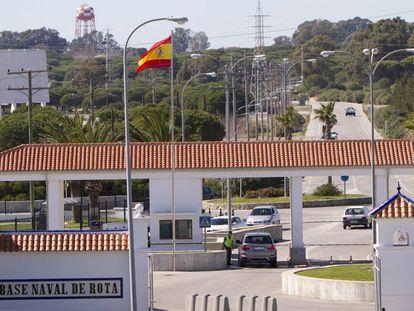 Entrada de la Base Naval de Rota (Cádiz).
