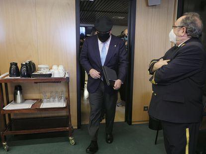 José Manuel Villarejo, a su llegada a la comisión Kitchen el pasado 27 de mayo.