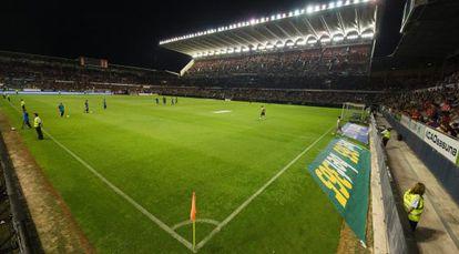 Vista general del Estadio de El Sadar, en Pamplona.