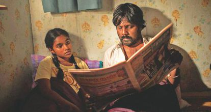 Claudine Vinasithamby y Jesuthasan Antonythasan, en 'Dheepan'.