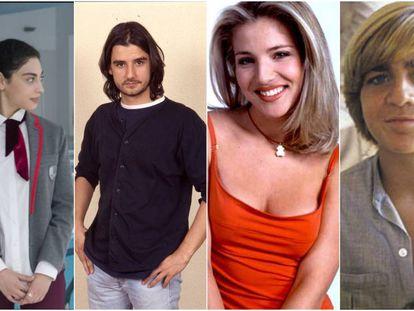 Es mirar a estos actores y tu mente se retrotraerá a cuando vivías como un drama la aparición de una espinilla en tu cara. Son algunos de los protagonistas de 'Élite' (Mina El Hammani), 'Compañeros' (Antonio Hortelano), 'Al salir de clase' (Elsa Pataky) y 'Verano azul' (Juanjo Artero).