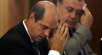 Antonio Albarracín, en su comparecencia en la comisión de investigación sobre los ERE.