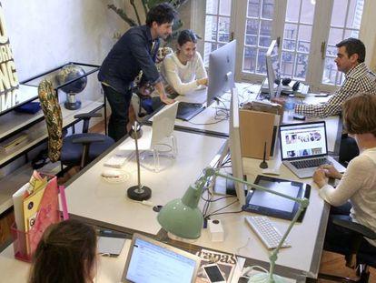 Un espacio de coworking en Madrid