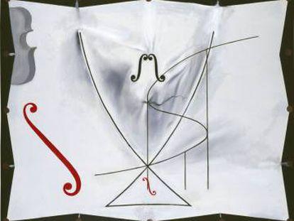 'Cola de golondrina y violonchelos. Serie de las catástrofes', última obra catalogada de Dalí.