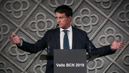 Manuel Valls, candidato a la alcaldía de Barcelona.
