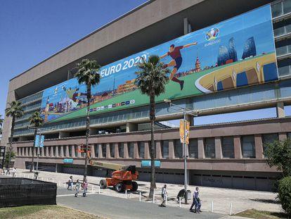 Imagen del Estadio de la Cartuja de Sevilla, sede de los partidos de España en la Eurocopa.