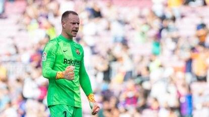 Ter Stegen, en el último partido el Barcelona en el Camp Nou.