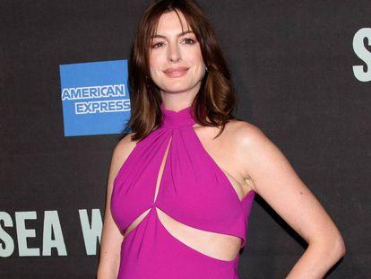 La actriz Anne Hathaway en Nueva York, el pasado 8 de agosto.