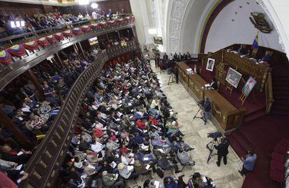 Sesión de asamblea nacional constituyente