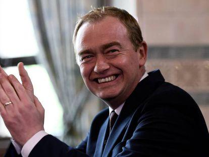 El líder liberal democráta, Tim Farron, este viernes en Londres.