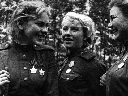 Francotiradoras sovéticas de la Segunda Guerra Mundial.