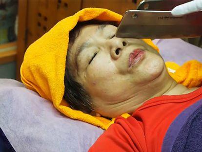 Un masaje con cuchillos en Taiwán.