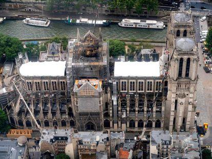 La fase de protección de Notre Dame no ha concluido a tres meses del incendio de la catedral parisina
