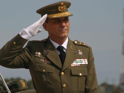 Francisco Fernández Sánchez, en su toma de posesión como comandante general de Melilla el 11 de abril de 2003.